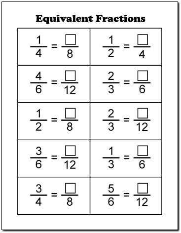 Number Names Worksheets : printable worksheets on fractions ~ Free ...
